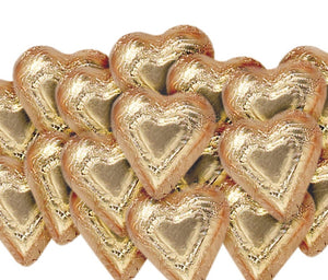 Foiled Dark Chocolate Bronze Hearts