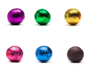 Foiled Dark Chocolate Balls & Bells