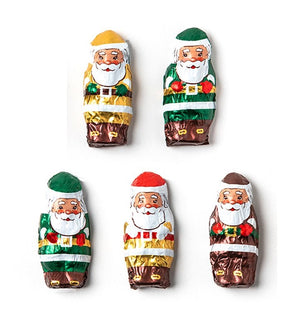 Foiled Mini Dark Chocolate Santas