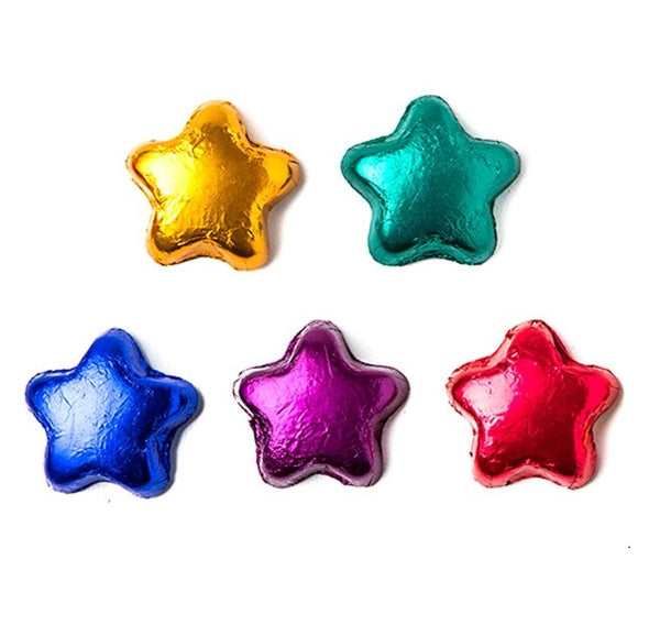 Foiled Dark Chocolate Stars