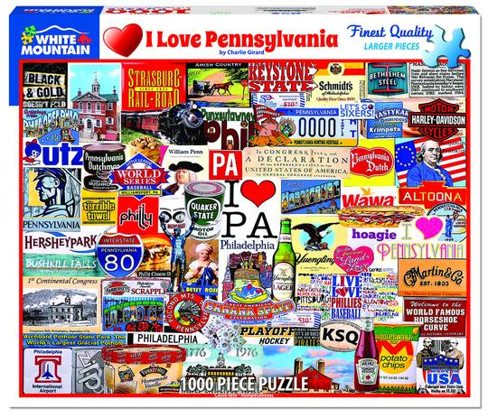 I Love Pennsylvania PUZZLE