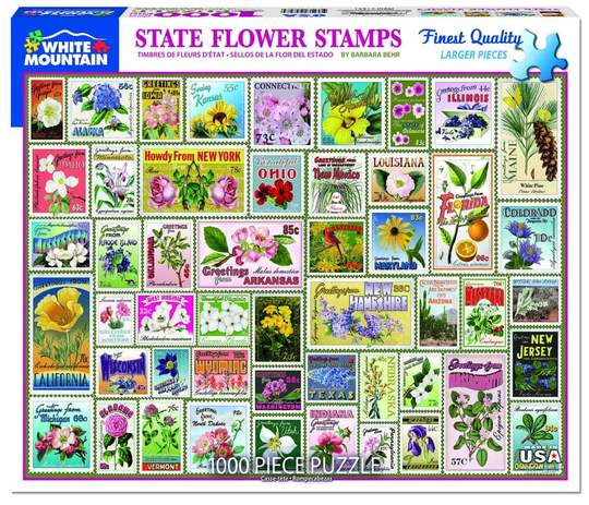 State Flowers Stamps PUZZLE