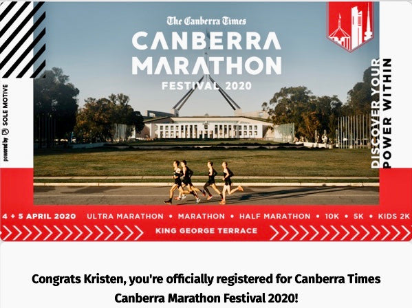 Canberra Times Running Festival - Sunday 5th April
