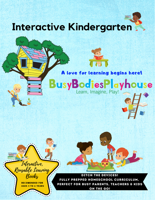Kindergarten Interactive Learning Book