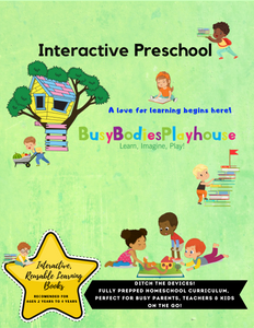 Preschool Interactive Learning Book
