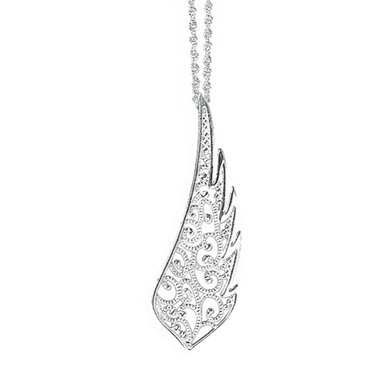 Filigree Angel Wing Pendant