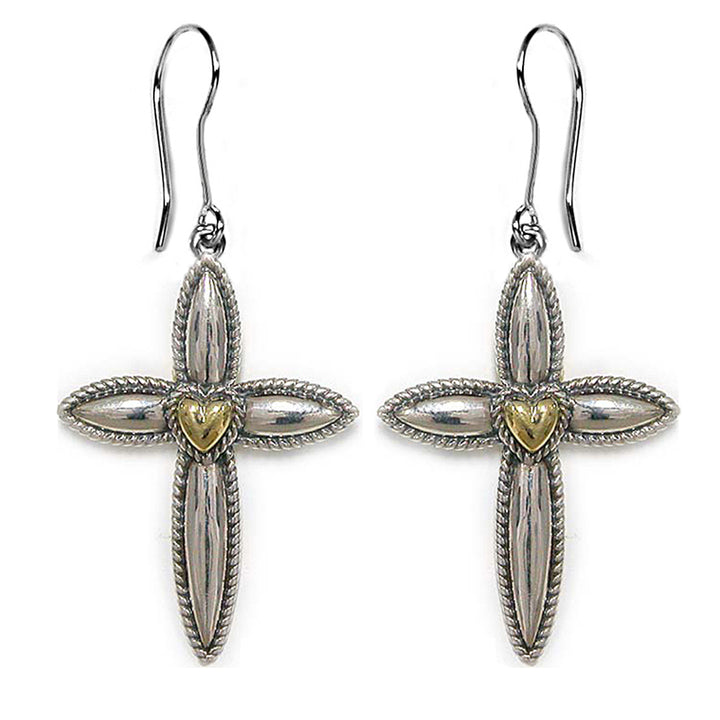 Petite My Hero Cross Earrings - Lavaggi Fine Jewelry