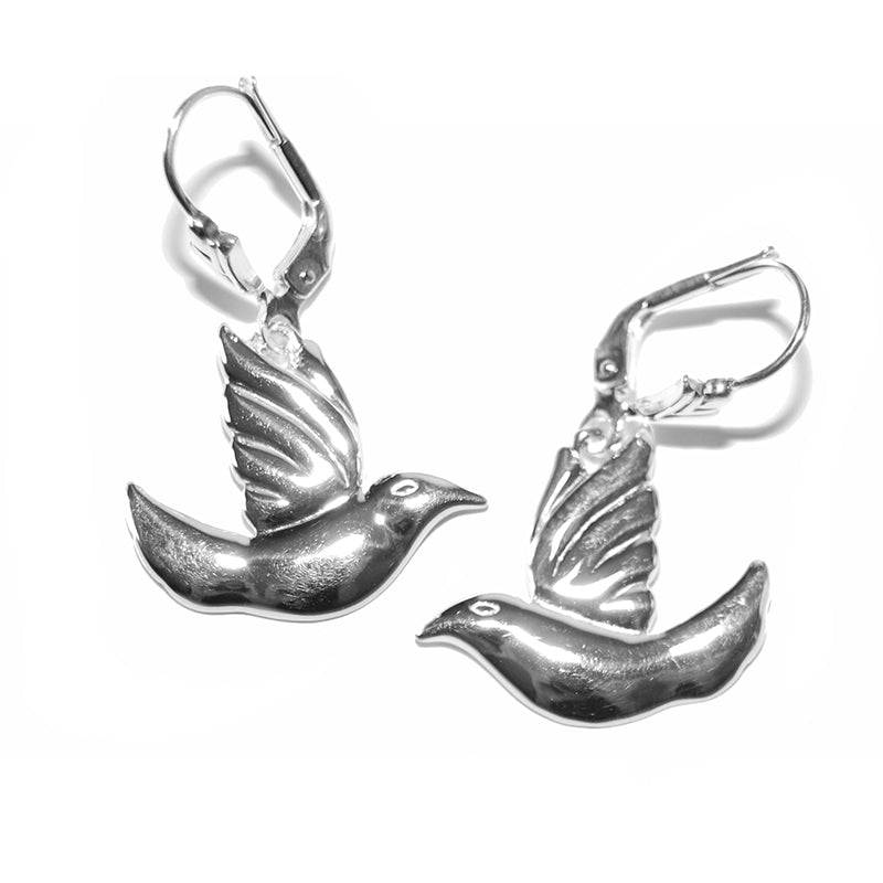 Petite Spirit Dove Earrings - Lavaggi Fine Jewelry