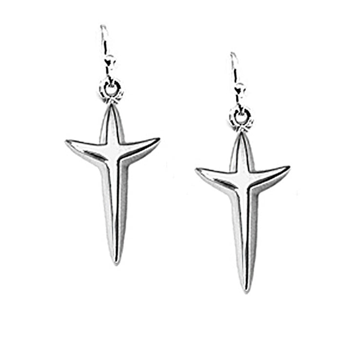 Petite Uplifting Cross Earrings - Lavaggi Fine Jewelry