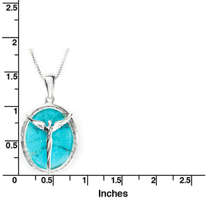 Angel Turquoise Cabachon Necklace