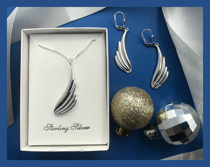 UPLIFTING ANGEL WING SET - Lavaggi Fine Jewelry