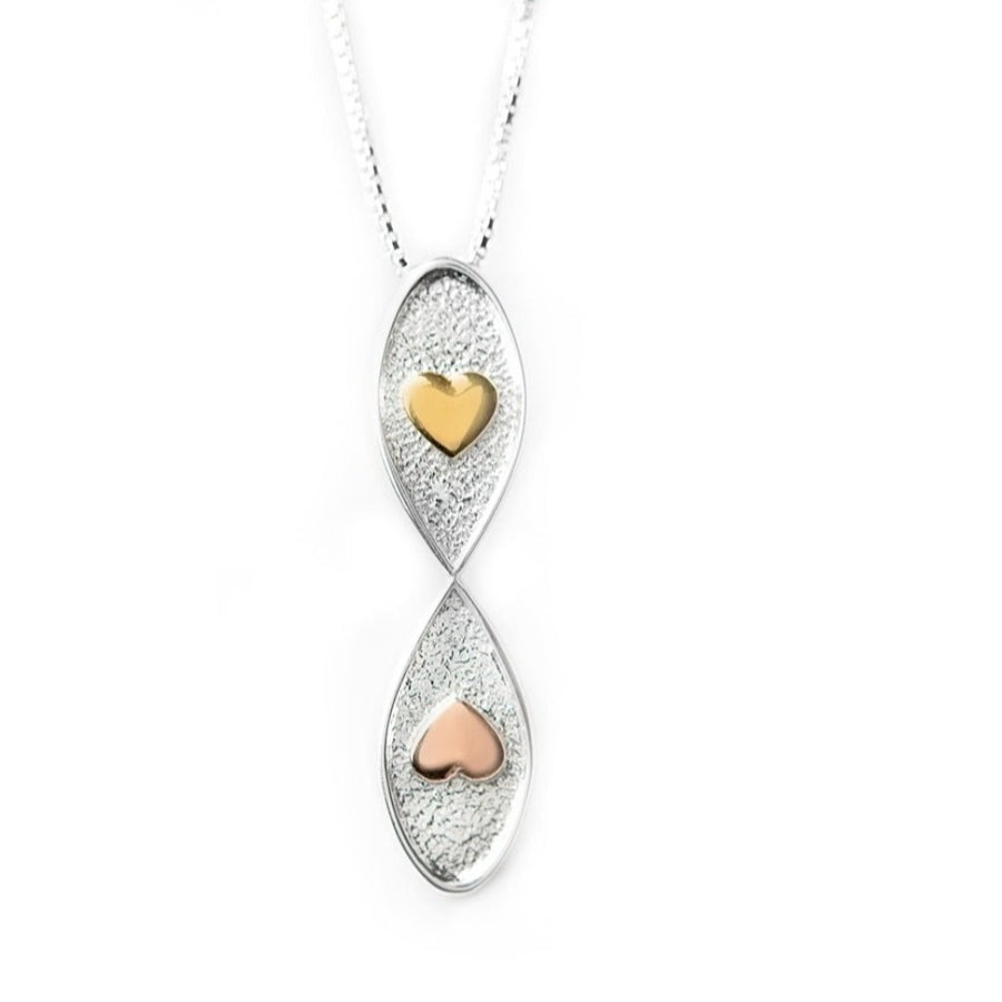 Infinite Love Necklace Sterling Silver With Hearts | Lavaggi Jewelry