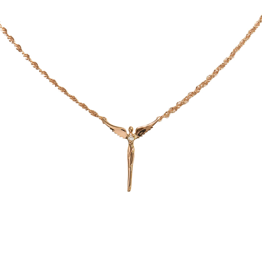 Rose Gold Perfect Angel Necklace