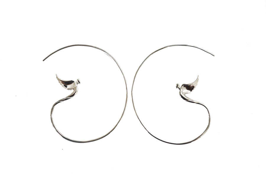 Soaring Angel Hoop Earrings - Lavaggi Fine Jewelry