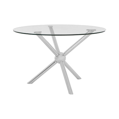 Round  Silver Dining Table