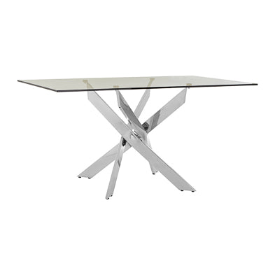 Boutique Rectangular Chrome Dining Table