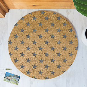 Grey Star Circle Doormat 70x70cm