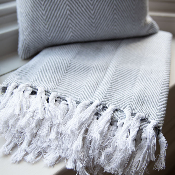 Grey Recycled Throw