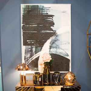navy & black wall art