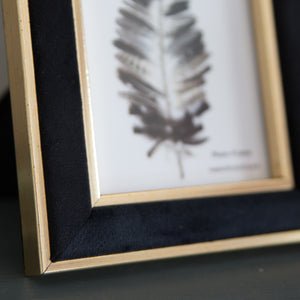 Black Velvet Photo Frame 4x6