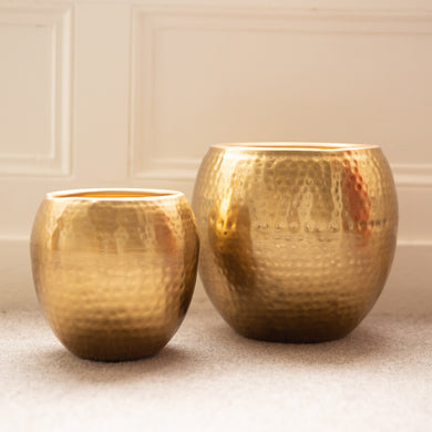2 Gold Planters