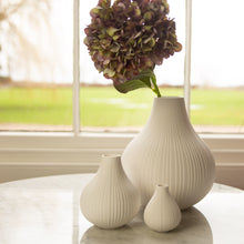 Load image into Gallery viewer, Large White Ceramic Vase 21cm