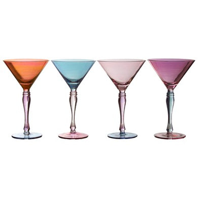 Jewel Cocktail Glasses Set of 4