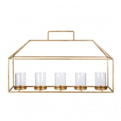 Statement Stainless Steel Candle Holder with a Gold Finish
