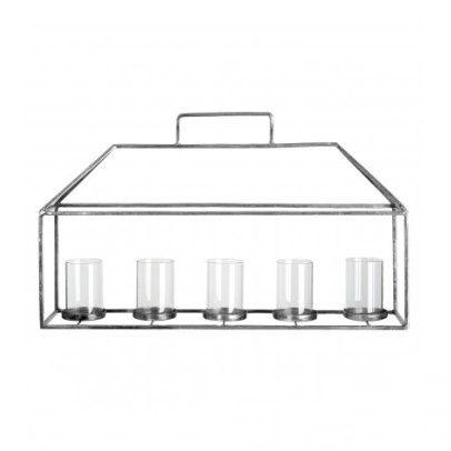 Statement Stainless Steel Candle Holder with a Silver Finish