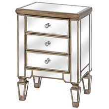 Load image into Gallery viewer, Glam Collection Three Drawer Bedside Table