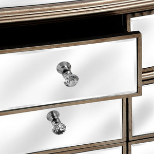 Glam Collection Six Drawer Mirrored Chest of Drawers