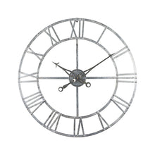 Load image into Gallery viewer, Large Silver 82cm Wall Clock