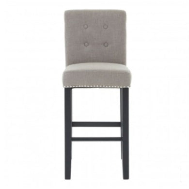 Leighton Natural Linen Bar Chair