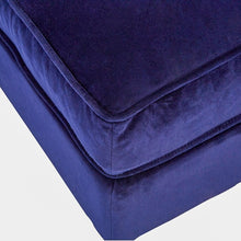 Load image into Gallery viewer, Midnight Velvet Footstool