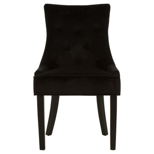 Saxton Black Velvet Dining Chair