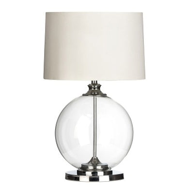 Cream Glass Ball Table Lamp 64cm