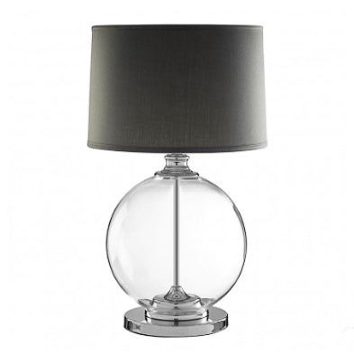 Grey Glass Ball Table Lamp 64cm