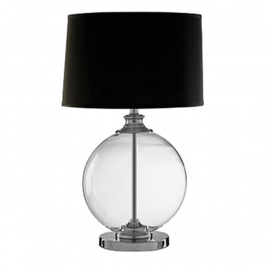 Black Glass Ball Table Lamp 64cm