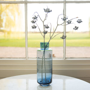 Blue Glass Vase 30cm