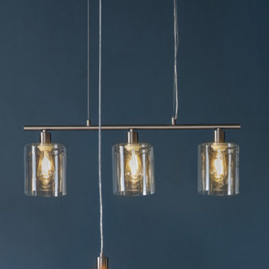 3 Light Pendant Light Brushed Nickel