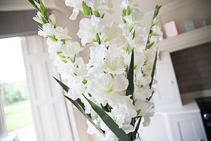3 Faux Gladioli Stems