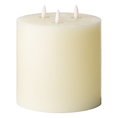 3 wick LED candle 15cm