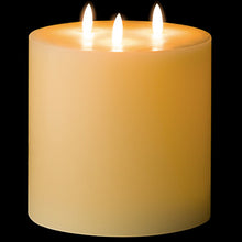 Load image into Gallery viewer, 3 wick LED candle 15cm