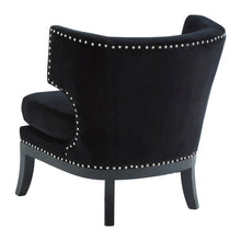 Load image into Gallery viewer, Black Velvet Penthouse Armchair