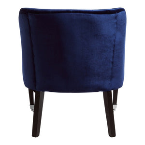 Royal Blue Velvet Chair