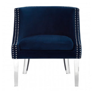 Clarence Blue Velvet Chair