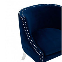 Load image into Gallery viewer, Clarence Blue Velvet Chair