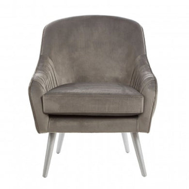 Grey Lux Velvet Chair