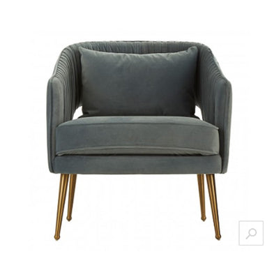 Boutique Hotel Blue Velvet Chair