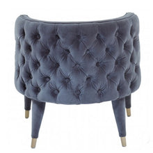 Load image into Gallery viewer, Grey Villa Velvet Chair